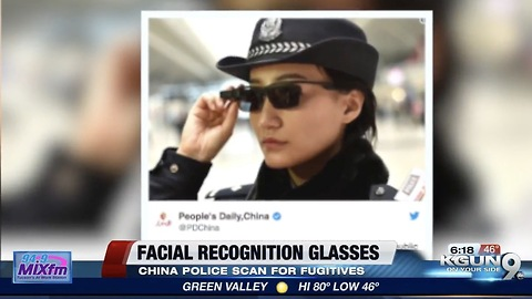 Chinese Police Using Sunglasses That Recognize People Within 100 milliseconds!