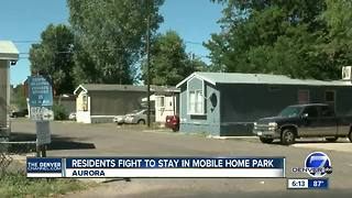 Residents fight to stay in mobile home park - Video