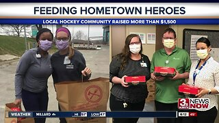 Hockey community feeds first responders, healthcare workers