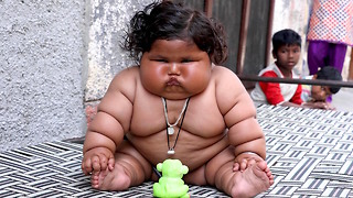 Giant 8-Month-Old Baby Weighs 38lbs: BORN DIFFERENT - Video