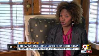 More Americans bringing 'Trump anxiety' into therapy - Video