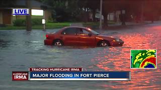 Hurricane Irma brings major flooding in Fort Pierce - Video
