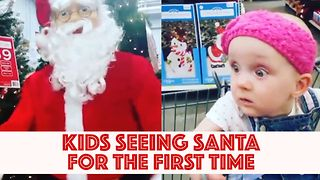 Adorable Kids Meet Santa For The First Time - Video