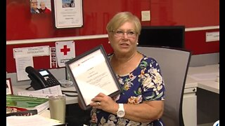 Local woman honored for lifesaving efforts