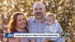 Child who died from being injured at Scottsdale fire station identified - Video