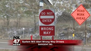 A new way to prevent wrong-way crashes