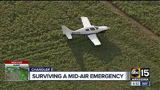 Plane lands in middle of Chandler field - Video