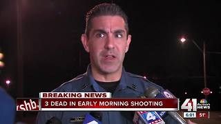 Three people dead after shooting, house fire in east KC - Video