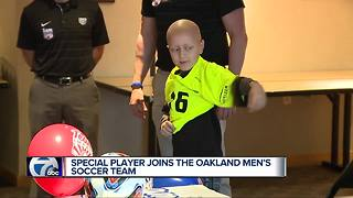 Special player joins the Oakland Men's soccer team - Video