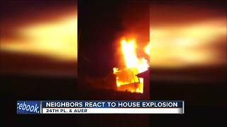 Home explosion causes neighboring homes to shake - Video