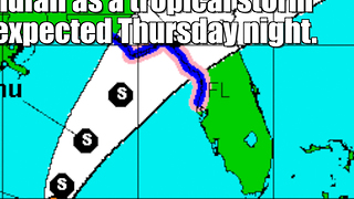 Tropical Depression 9 is already flooding Florida - Video