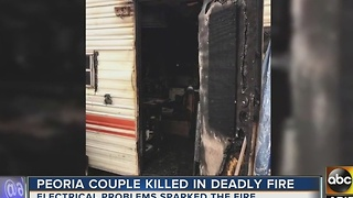 Peoria couple killed in camper fire - Video