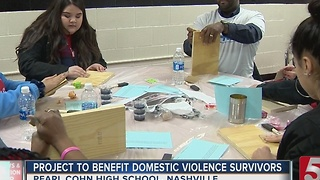 Students Give To Domestic Violence Victims - Video