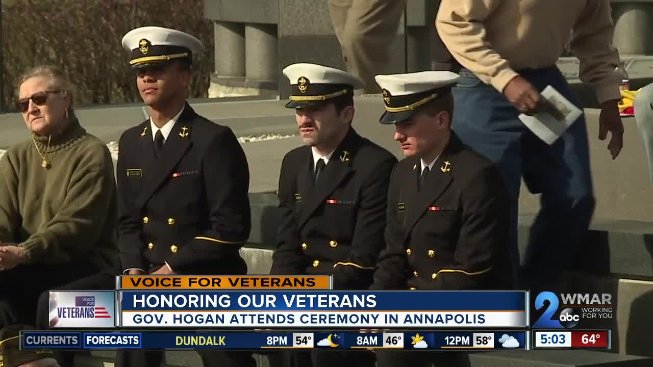 Governor Hogan honors veterans at ceremony in Annapolis