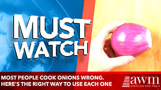 Most people cook onions wrong. Here's the right way to use each one - Video