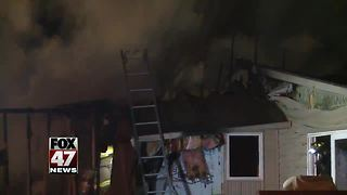 Mid-Michigan family wakes up to home engulfed in flames - Video