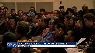 Dozens take the Oath of Allegiance to become naturalized citizens