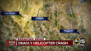 Helicopter crash near Grand Canyon leaves three dead and four injured - Video