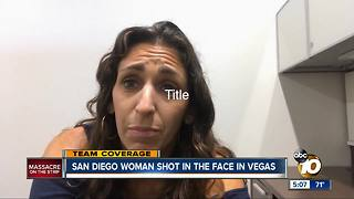 San Diego woman shot in eye during Las Vegas massacre - Video