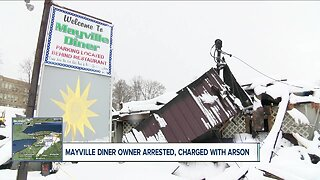 Owner of Mayville Diner arrested, charged with arson after massive fire