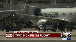 Flight returns to Sky Harbor after two flight attendants felt nauseous after takeoff - Video