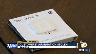Ramona business robbed, customer data stolen - Video