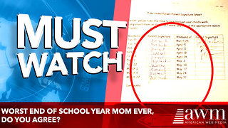 Worst End of School Year Mom Ever - Video