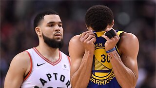 Raptors top warriors to win game 1