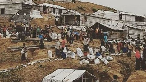 Residents of Rohingya Refugee Camp Relocate Due to Risk of Landslides