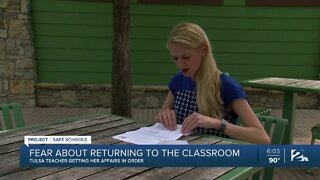 Fear about returning back to the classroom