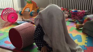 Baby Turns The Table On Peekaboo! - Video