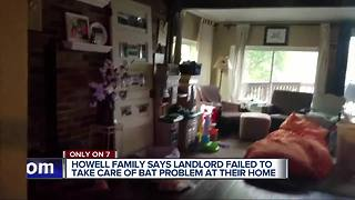 Howell family says landlord failed to take car of bat problem a their home - Video