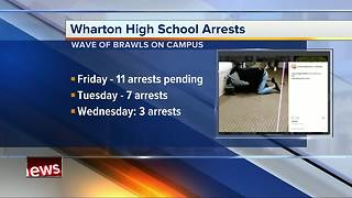 10 students arrested at Wharton High School in the past two days - Video