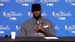 RAW: LeBron James talks Cavs win in game 4 - Video