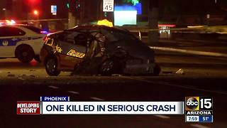 Taxi driver killed in south Phoenix crash - Video