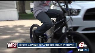 Hendricks County deputy replaces boy's stolen bike: 'It was the right thing to do' - Video