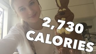 Competitive Eater Sets Her Sights on Chocolate Bunny - Video