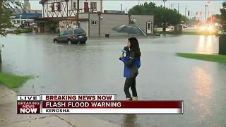 Flash Flooding causing issues in Kenosha - Video
