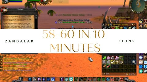 HOW MANY COINS TO LEVEL FROM 58 TO 60 WOW CLASSIC - Ty The Hunter