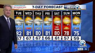 Latest Weather Forecast 11 p.m.Monday - Video