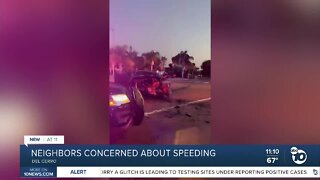 Del Cerro neighbors concerned about speeding, dangerous intersection