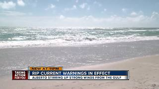 Rip current warnings in effect - Video