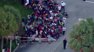 Crowds line up for SNAP disaster food assistance in Palm Beach County - Video