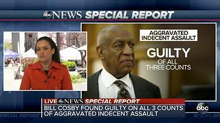 Bill Cosby found guilty of sexual assault, shouts at prosecutor in court - Video