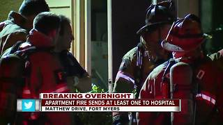 Family of four rescued from apartment after fire erupts in kitchen - Video