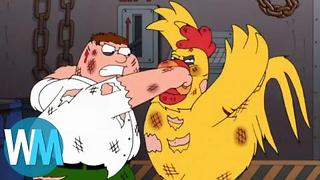 Top 10 Funniest Peter Griffin Injuries - Video