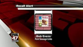 RECALL: Pork sausage link products - Video