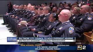 Baltimore City Council expected to hold oversight hearing on police cadet training - Video