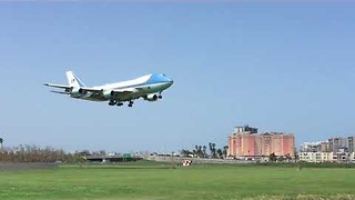 Trump Arrives in Puerto Rico's Capital, San Juan, on Air Force One - Video