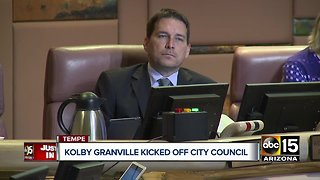 Kolby Granville voted off Tempe City Council